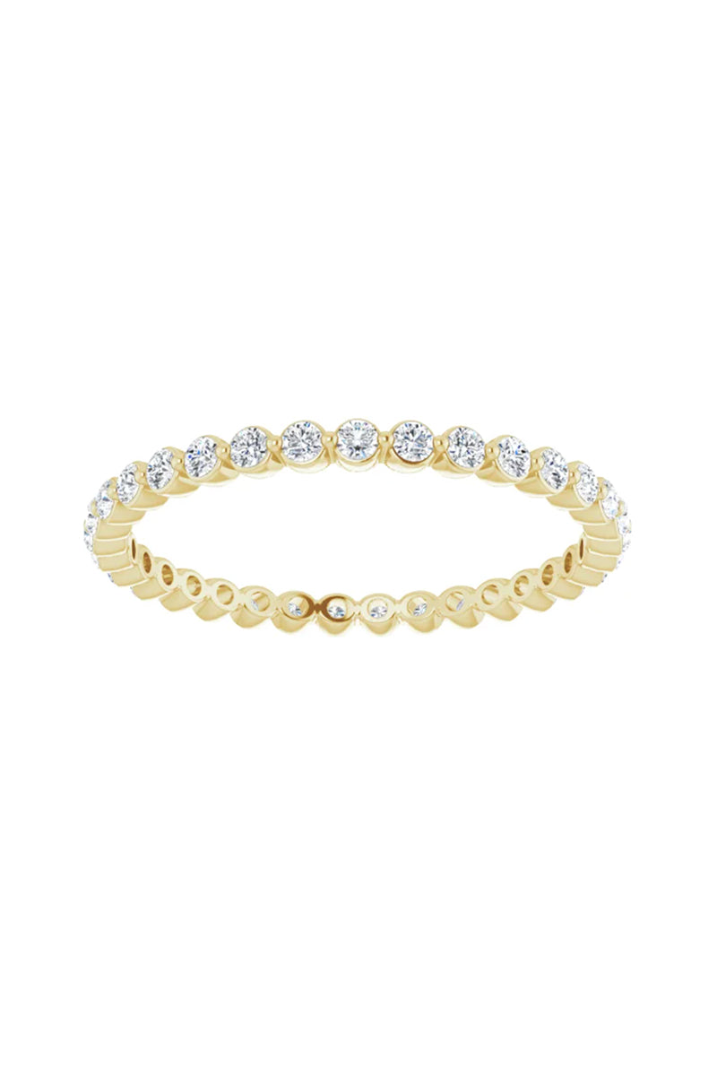 3/8 CTW Diamond Eternity Band - Yellow Gold