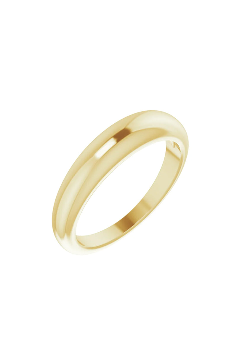 4mm Petite Dome Ring - Yellow Gold