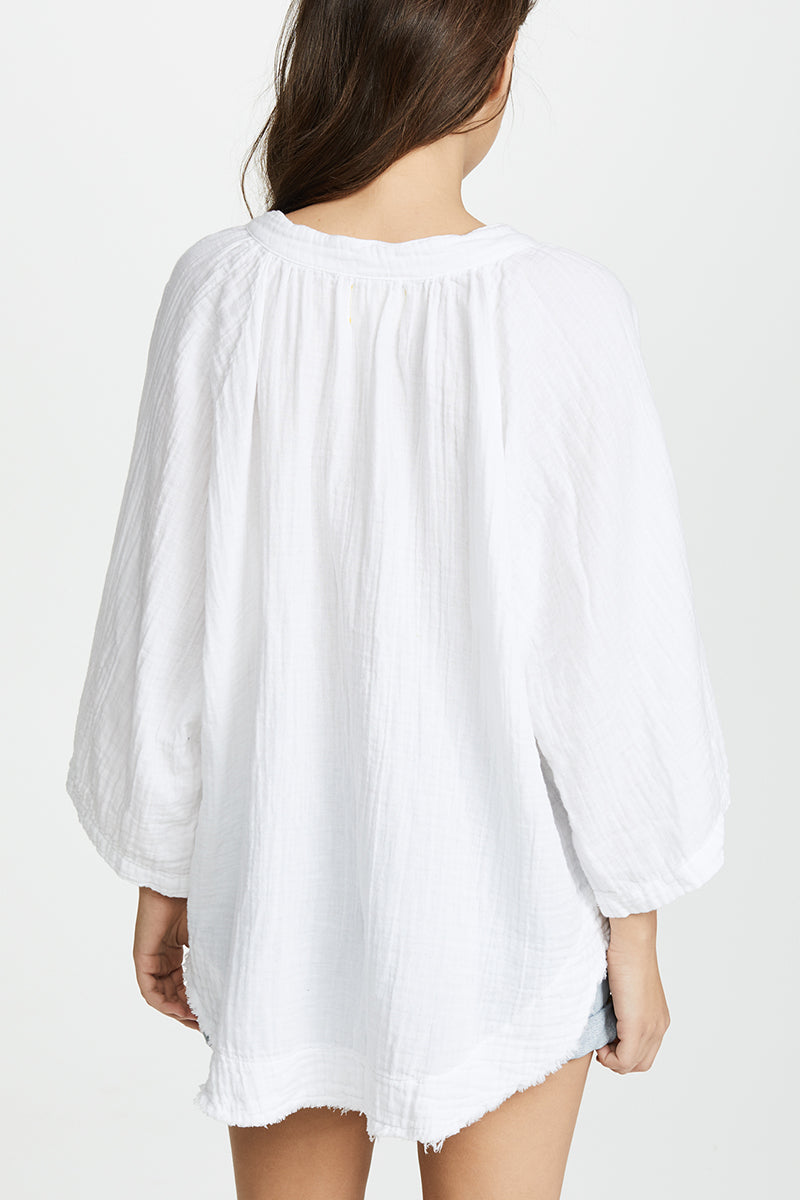 Marrakesh Dashiki Top Double Gauze - White