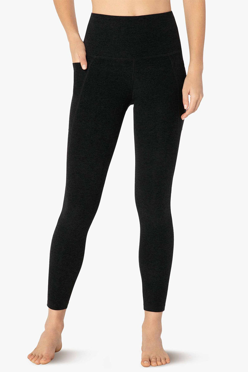 Out of Pocket High Waisted Midi Legging - Spacedye Darkest Night