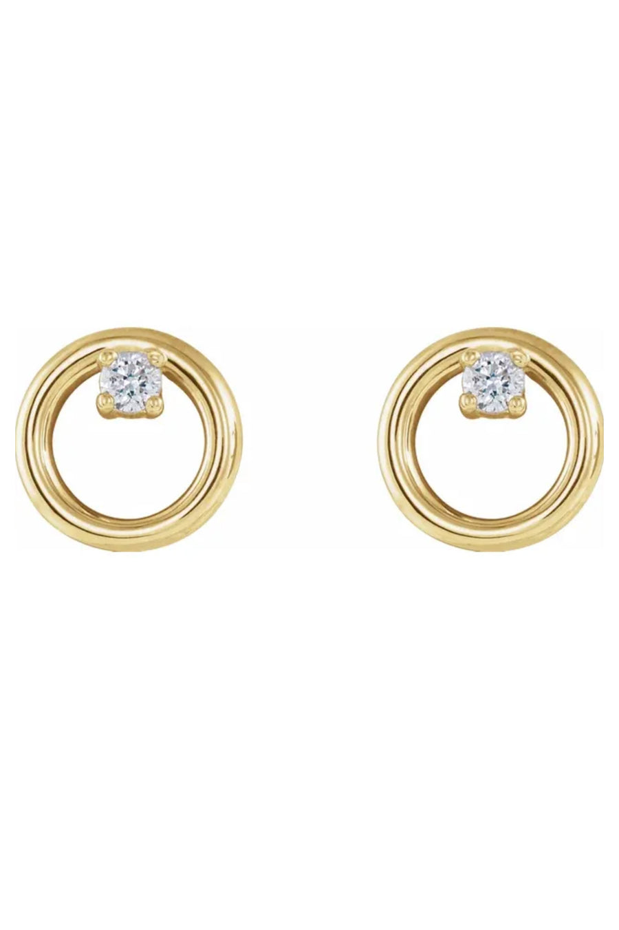 Diamond Circle Stud Earrings - Pavilion