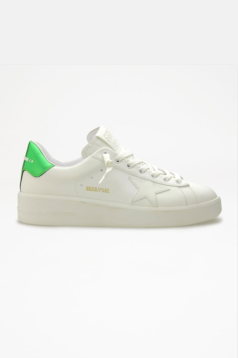 Pure Star - White and Green Heel