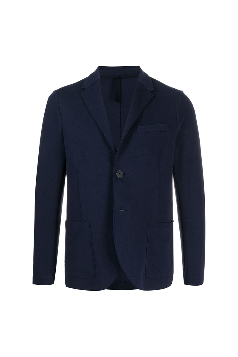 2 Button Sartorial Blazer Loro Piana Cavalry Twill - Dark Blue