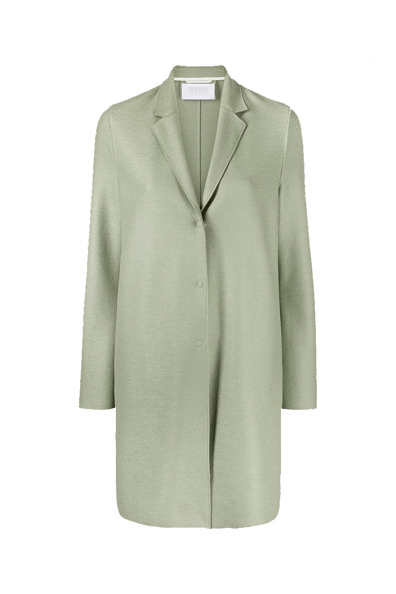 Cocoon Coat Light Pressed Wool - Rosemary
