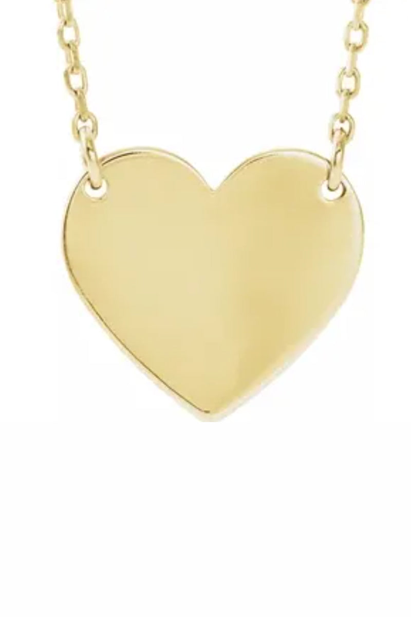 Heart of Gold Necklace - 14k Yellow Gold