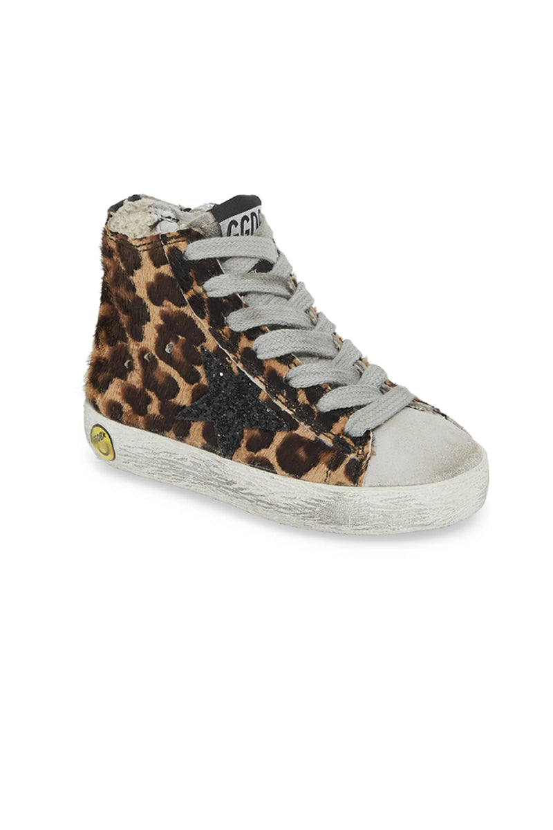 Francy Kids - Leopard Pony Black Glitter