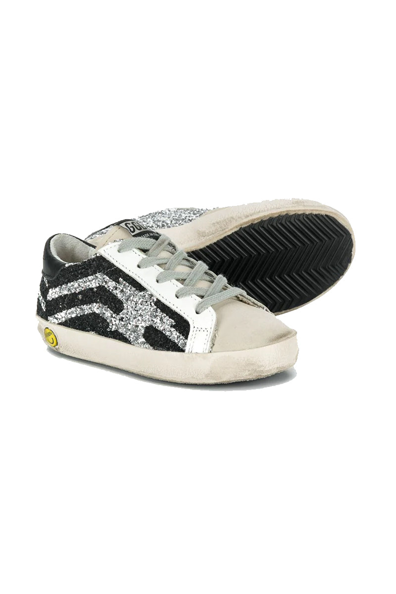Superstar Kids - Silver Glitter Black Flag