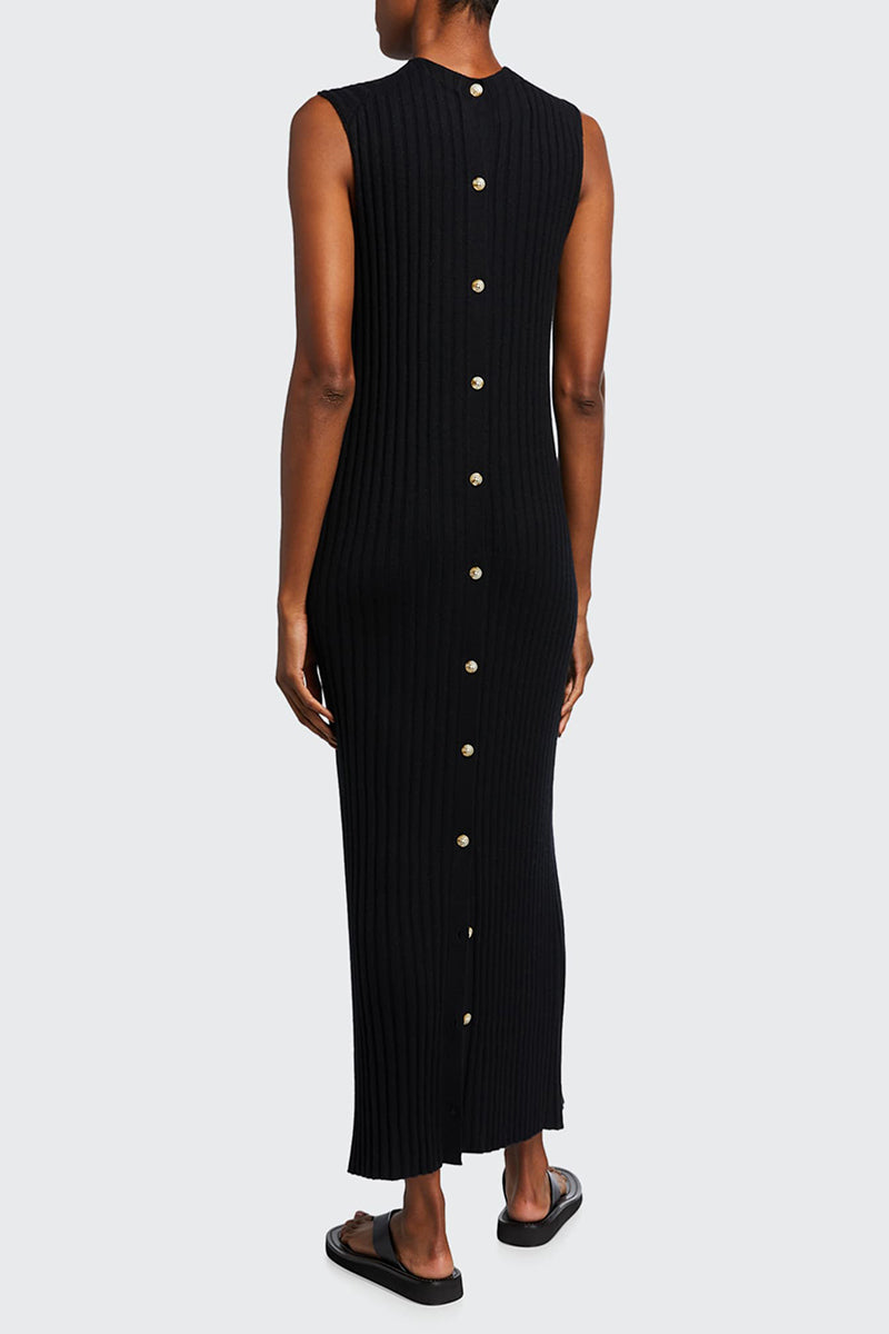Andrott Rib Knit Dress - Black