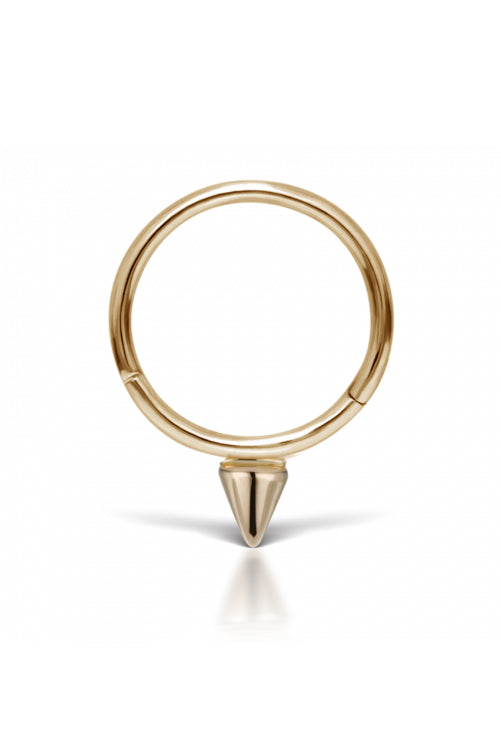 9.5mm Single Spike Ring - Yellow Gold