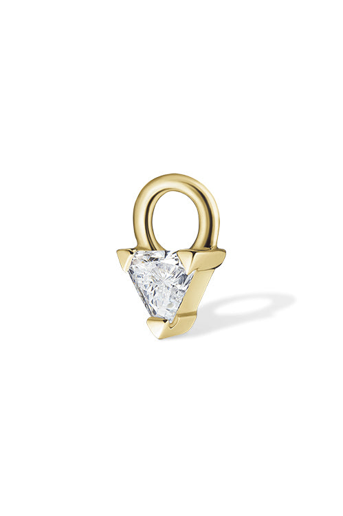 Diamond Triangle Charm - Yellow Gold