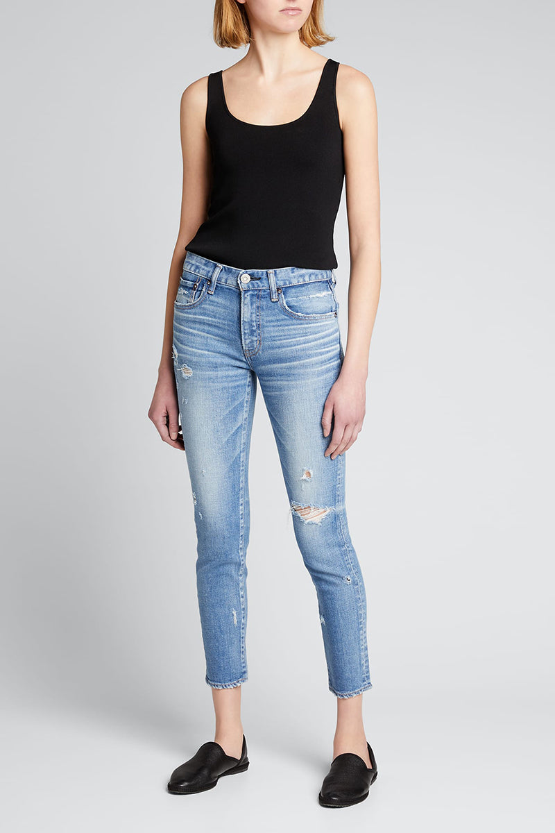 Gleedsville Ankle Skinny Jeans - Light Blue