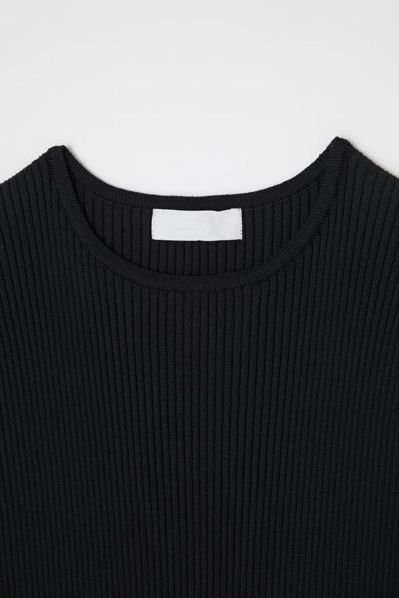 Rib Knit Dress - Black