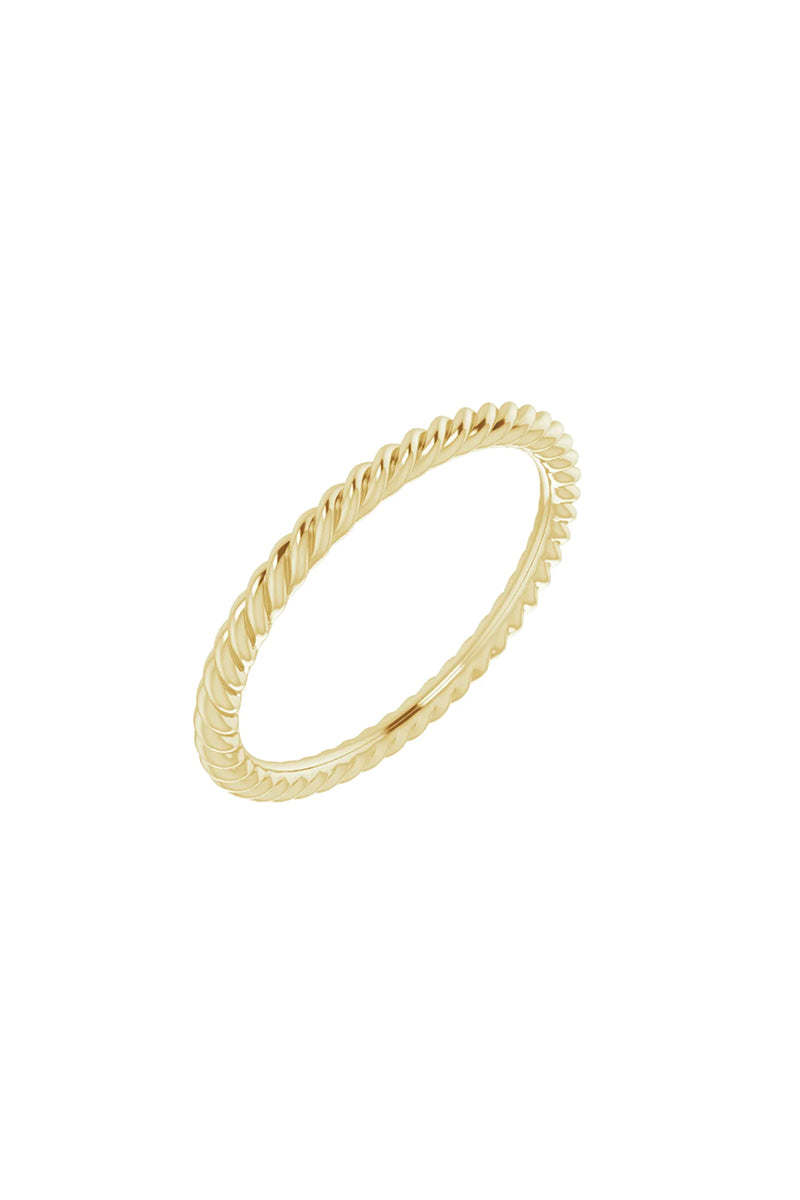 1.5 mm Skinny Rope Band - Yellow Gold
