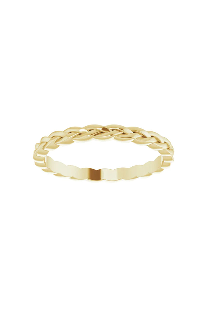2mm Woven Band - 14k Yellow Gold