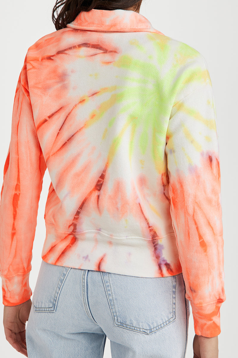 70s Half Zip Sweatshirt - Neon Spacedye