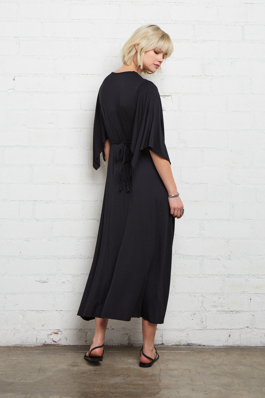 Midi Caftan Dress - Black - Pavilion