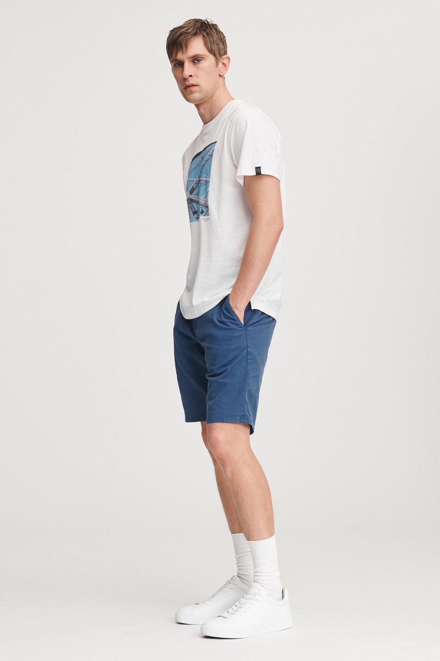 Classic Chino Short - Work Wear Blue - Pavilion