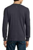 Standard Issue Basic Long-Sleeve Henley Shirt - Navy - Pavilion