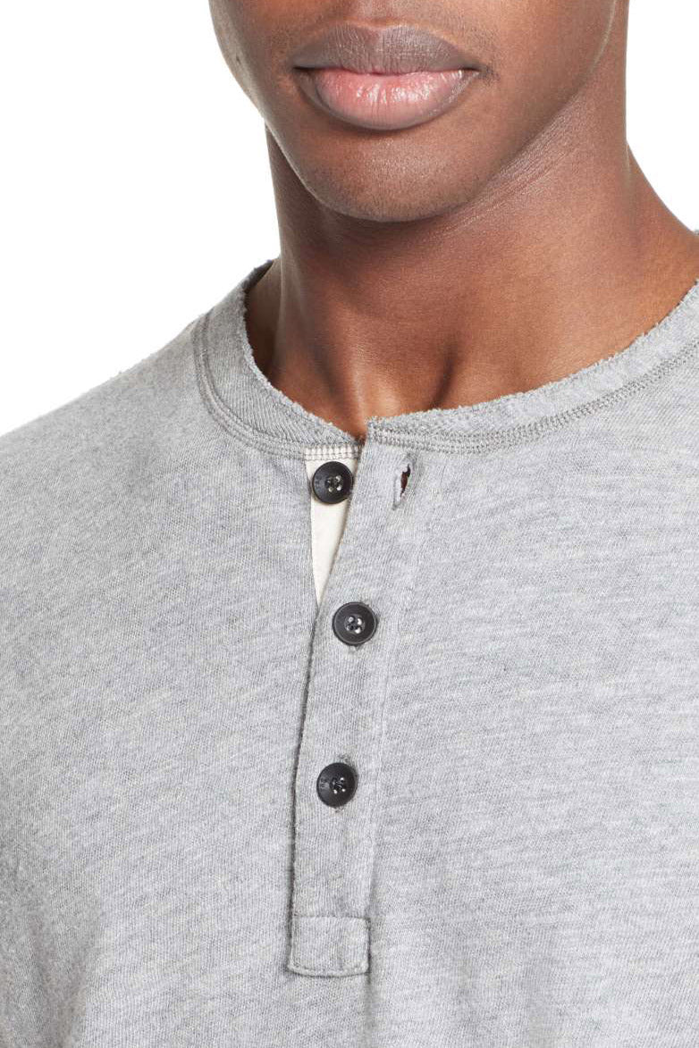 Standard Issue SS Henley - Grey Heather - Pavilion