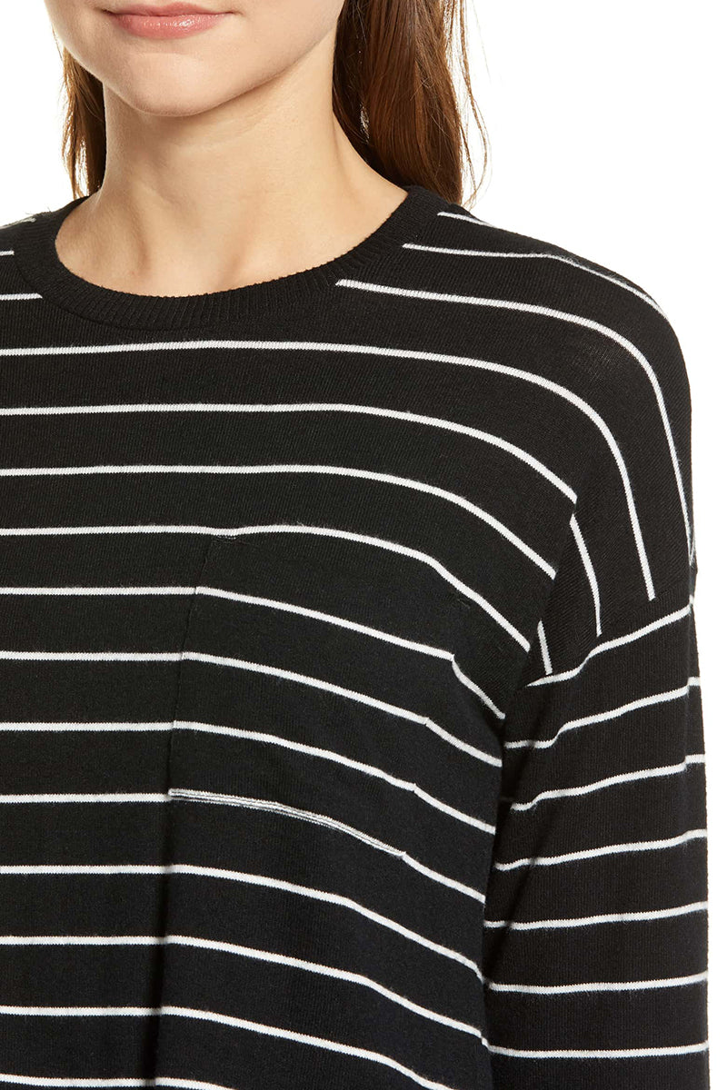 Ezra Top - Black White Stripe - Pavilion