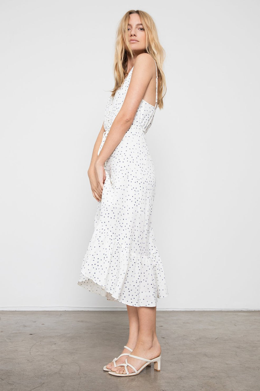 Frida Dress - Ivory Speckled