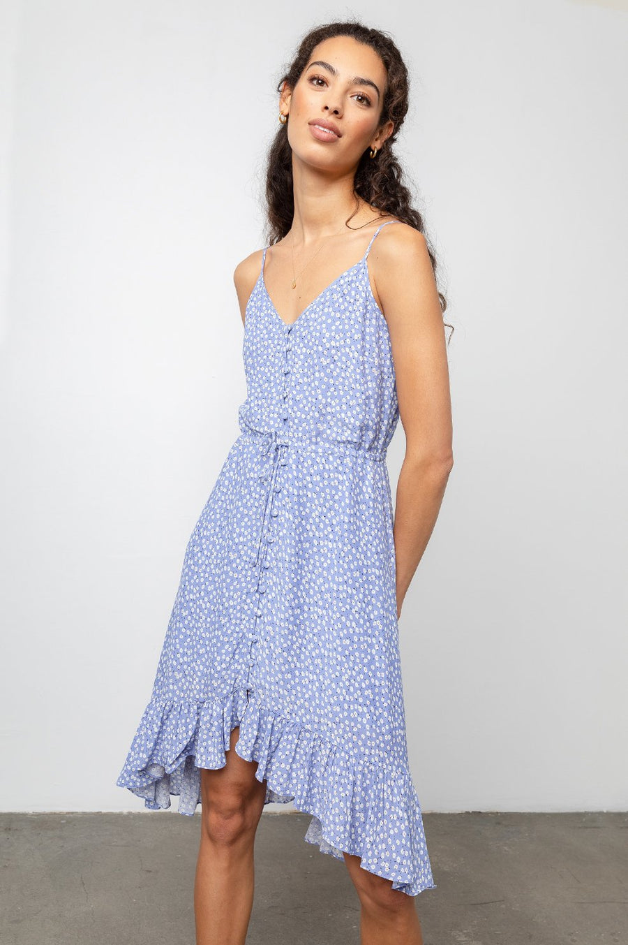 Frida Dress - Sky Blue Daisies