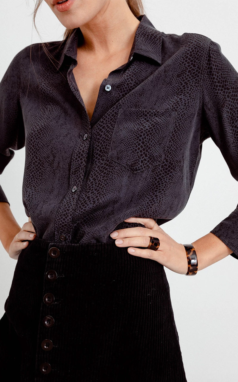 The Kate Blouse - Charcoal Cobra - Pavilion