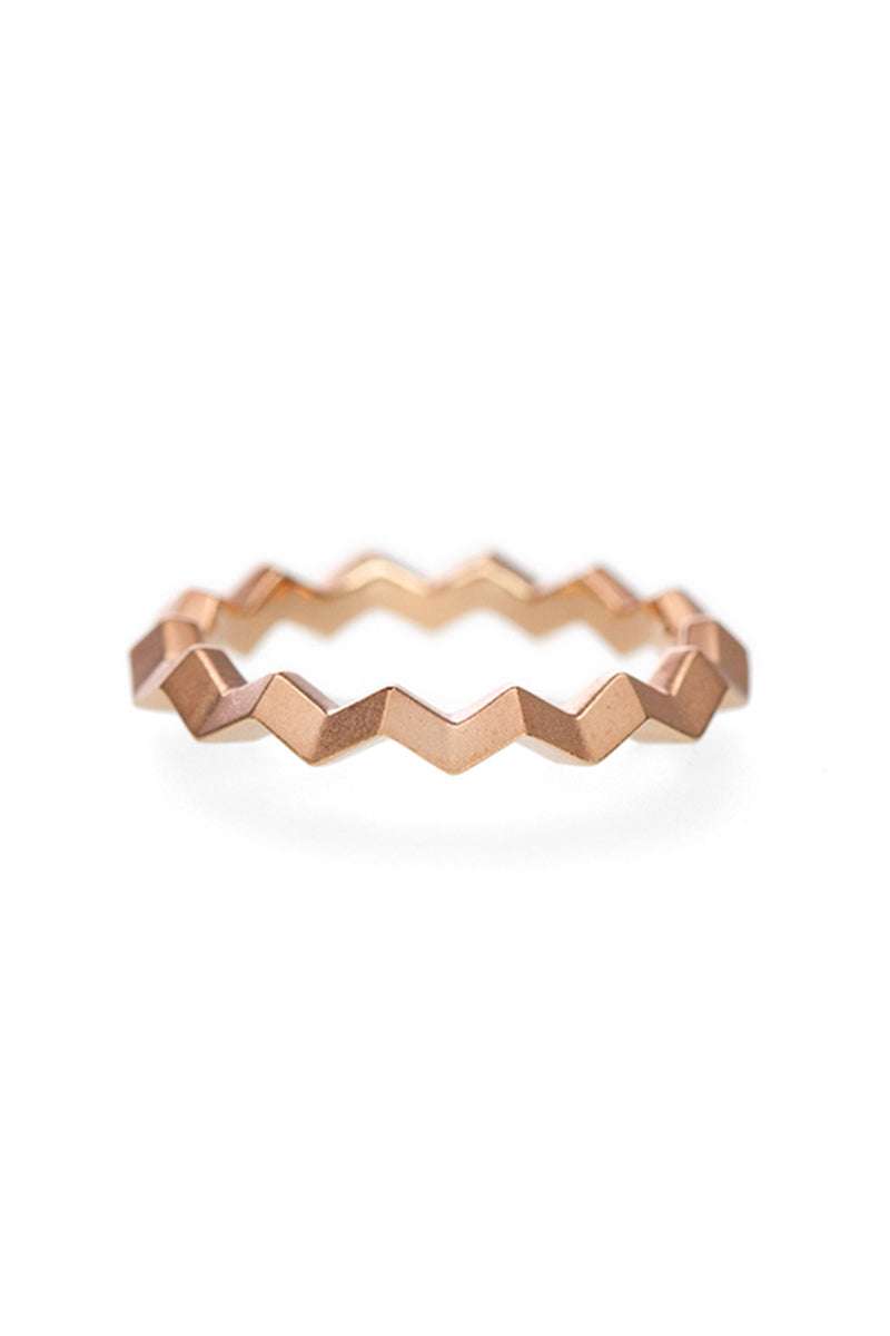 Zig Zag Band - Matte Rose Gold