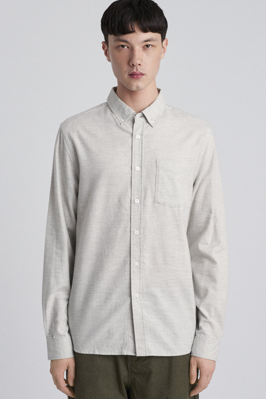Crosby Flannel L/S Shirt - Ash Heather - Pavilion