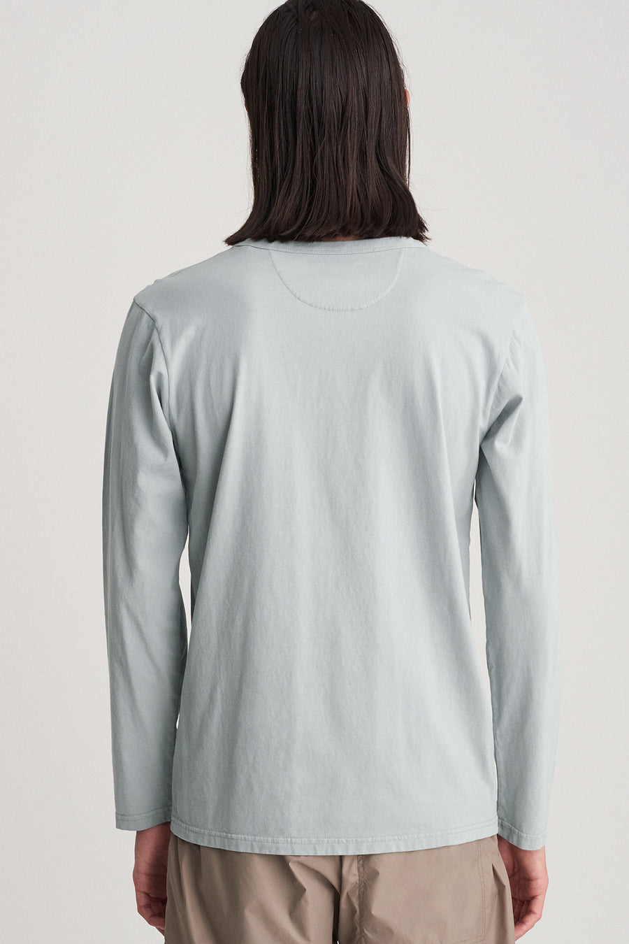 James Pima Long Sleeve Shirt - Stone Blue - Pavilion