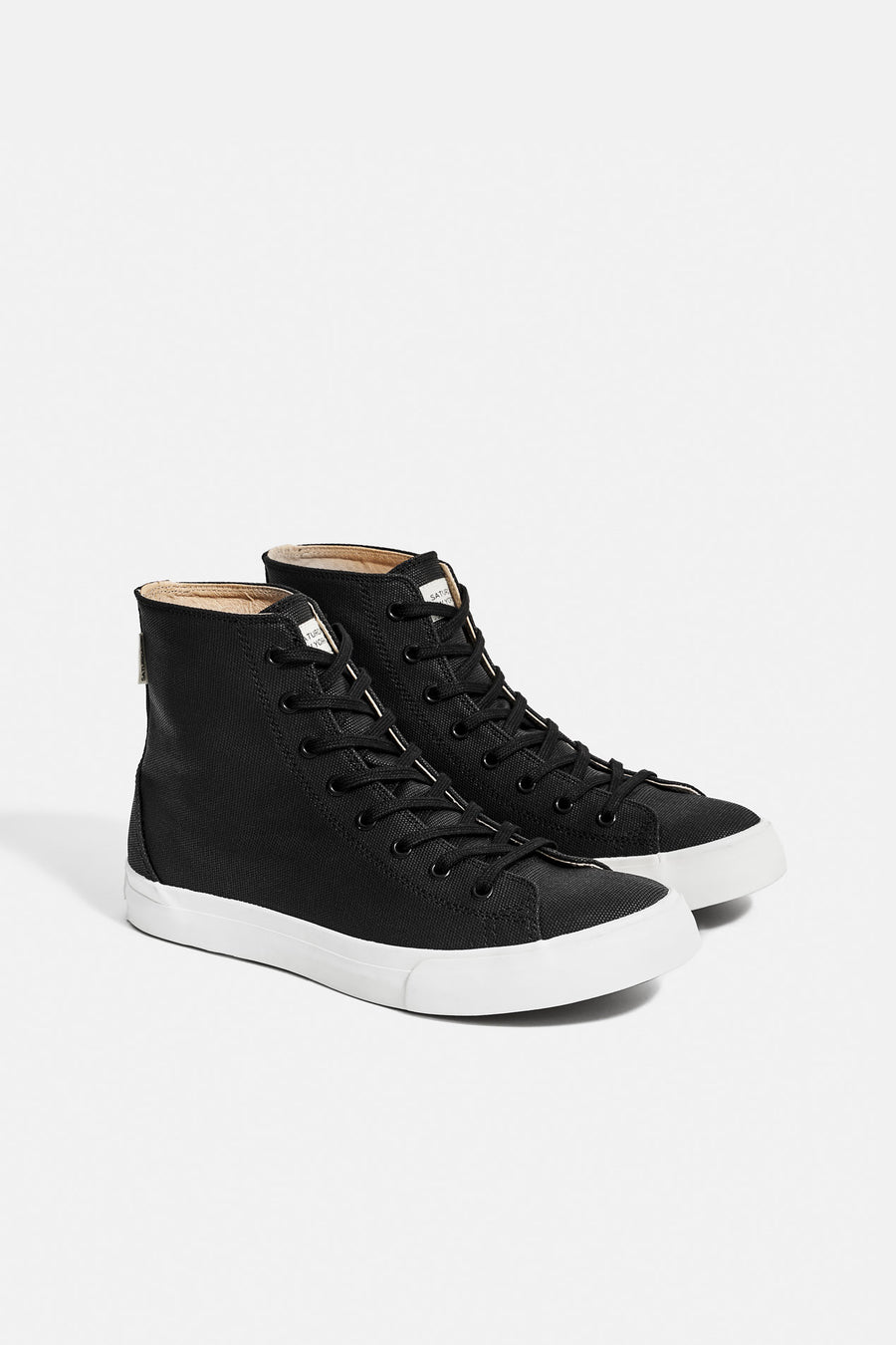 Mike Waxed High‑Top Sneakers Black - Pavilion