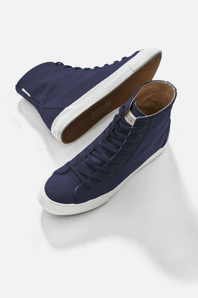 Mike Waxed High-Top Sneakers Midnight - Pavilion