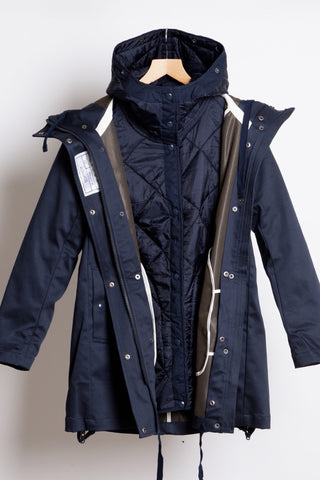 Technic Cocoon Coat - Ink