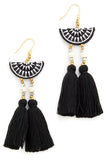 Camilla Drop Earring - Black