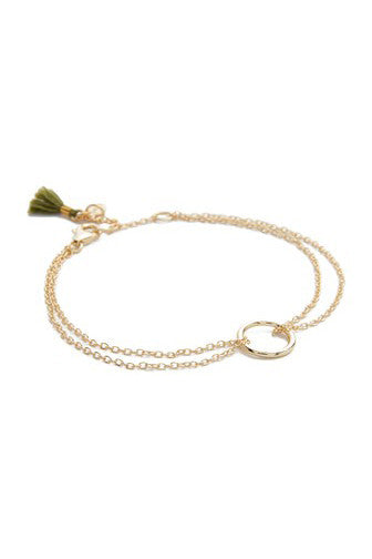 Circle Bracelet - Yellow Gold - Pavilion