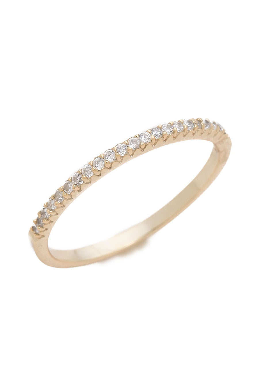 Diamond Bar Ring - YG - Pavilion