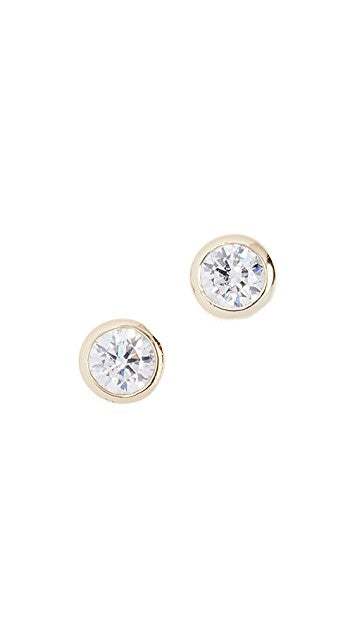 Solitaire Earrings - YG - Pavilion