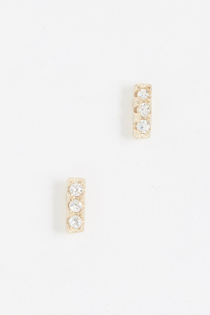 Tiny Bar Stud Earring - YG