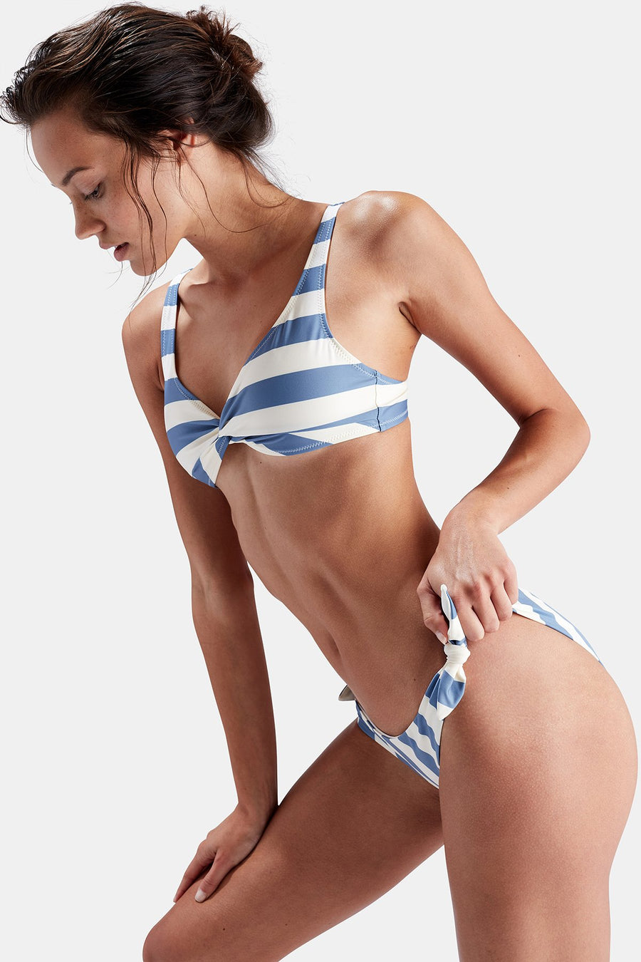 The Jane Bikini Top - Ice Stripe - Pavilion