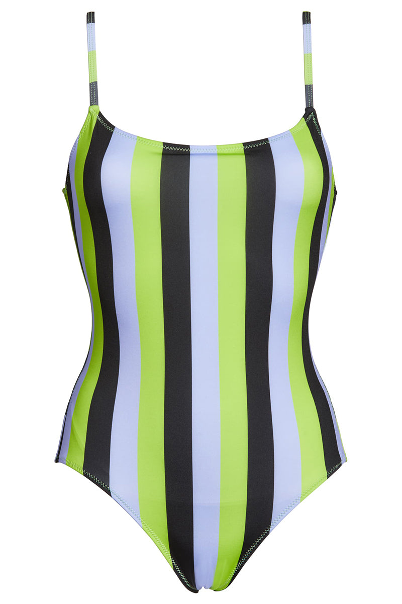 The Nina - Lavender Lime Black Stripe