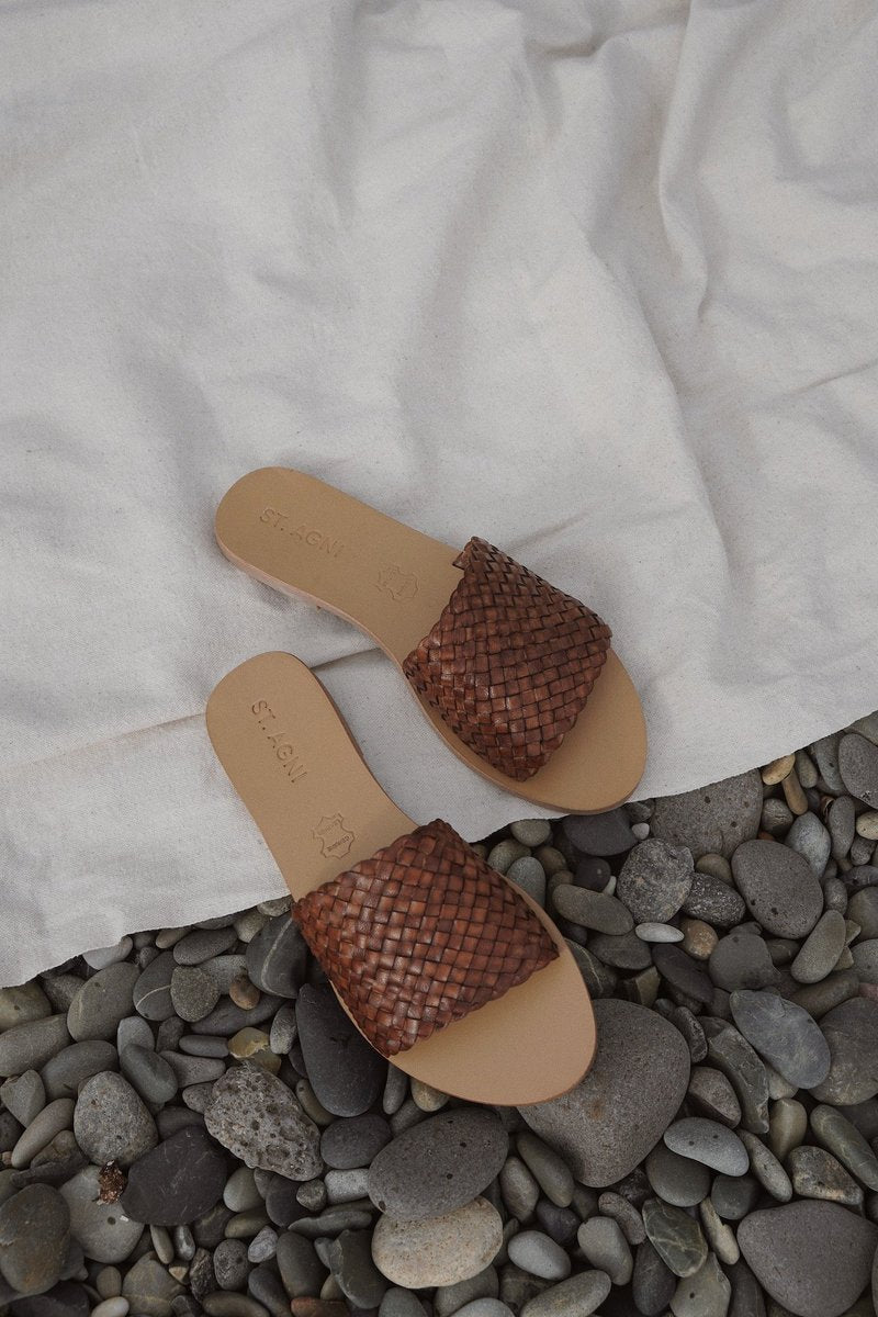 Dori Woven Slide - Antique Tan