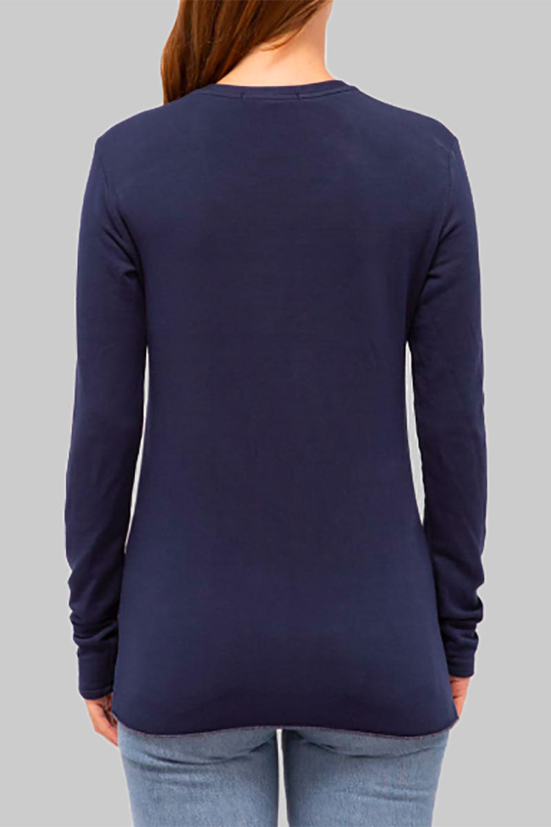 Fleece Twist Pullover - Navy