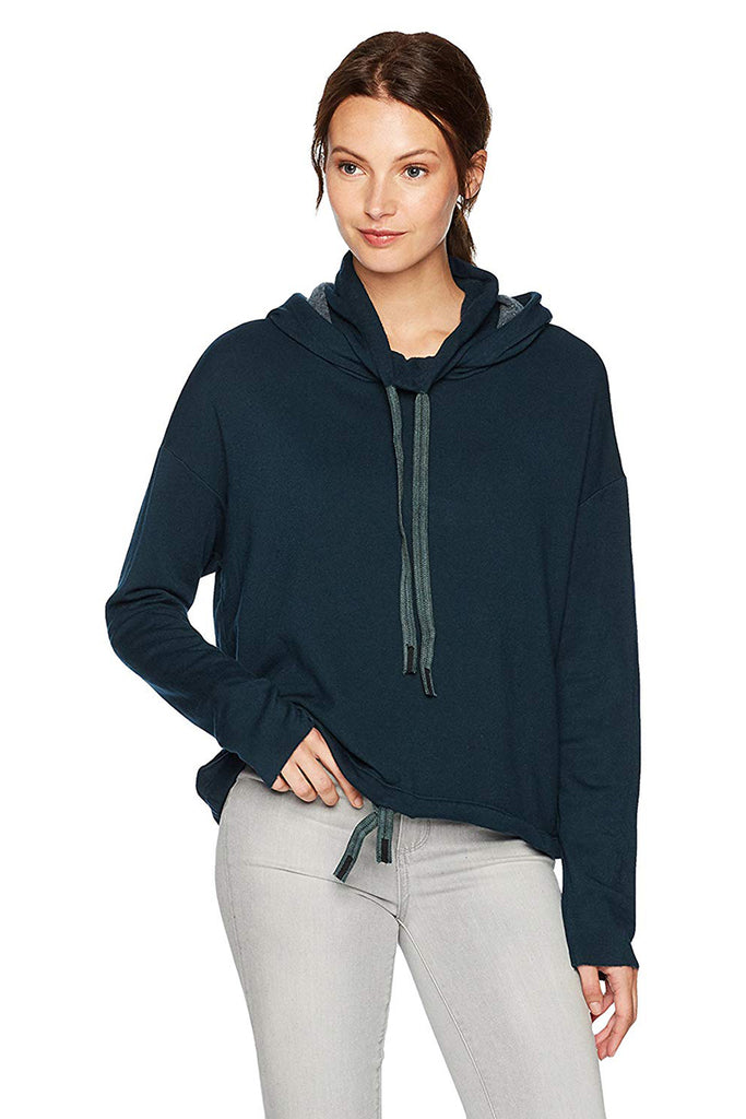 Funnel Neck Hoodie - Deep Green - Pavilion