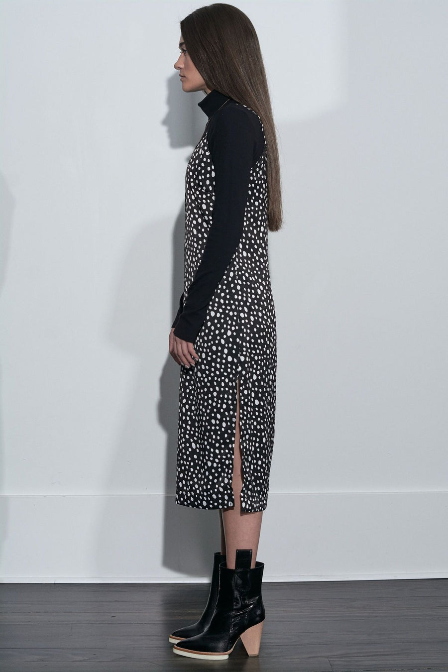 Leopard Slip Dress - Black - Pavilion
