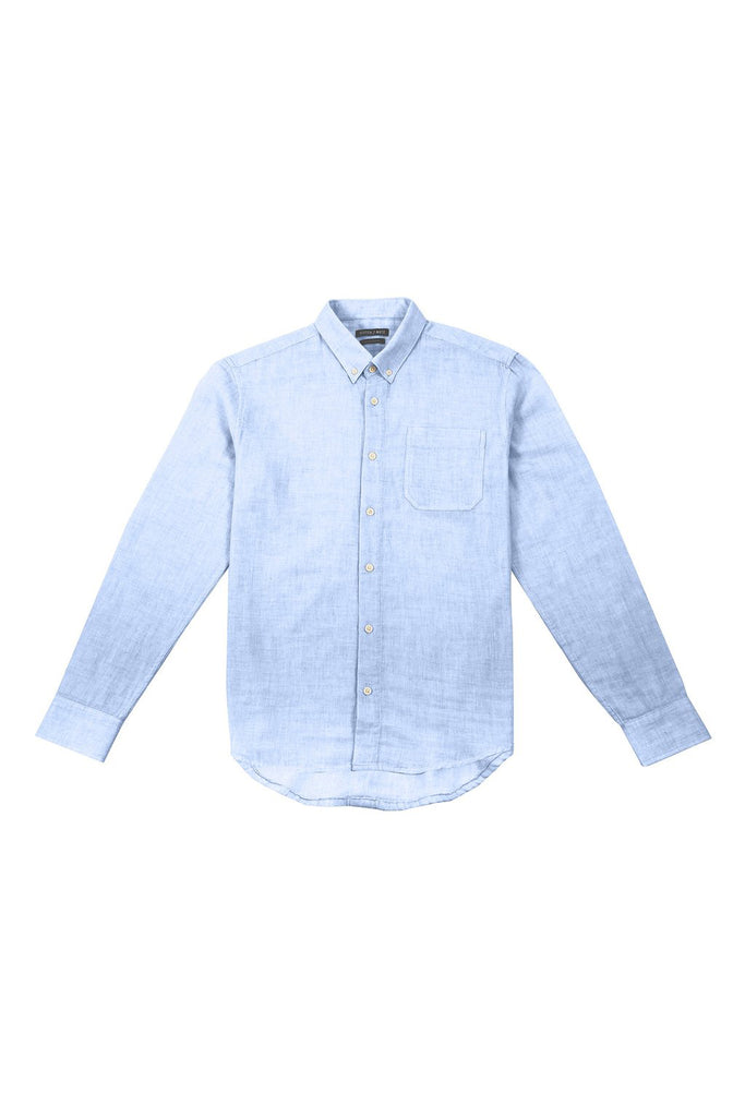 Linen Long Sleeve Button Down - Light Blue
