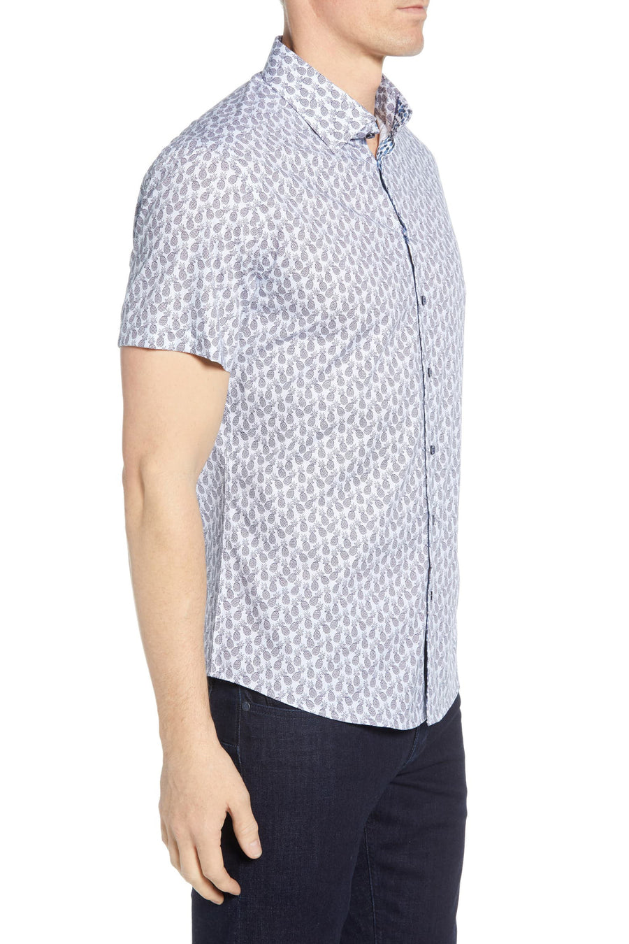 Short Sleeve Woven Button Down - Pineapple Print - Pavilion