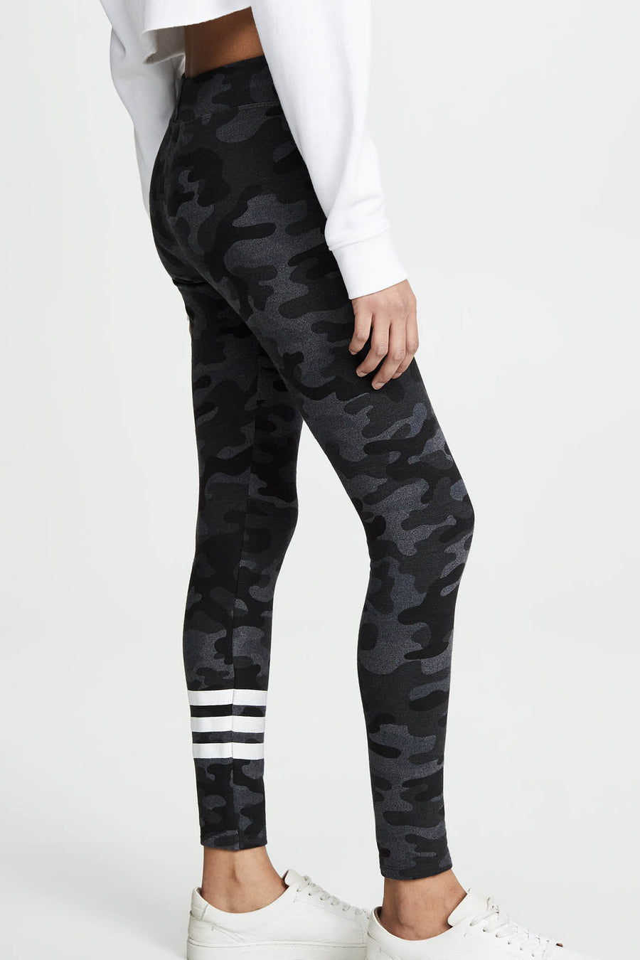 Stripe Camo Yoga Pant - Charcoal