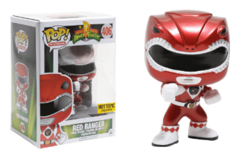 Mighty Morphin' Power Rangers Red Ranger (Metallic) Pop! Vinly - NapGeek Collectibles