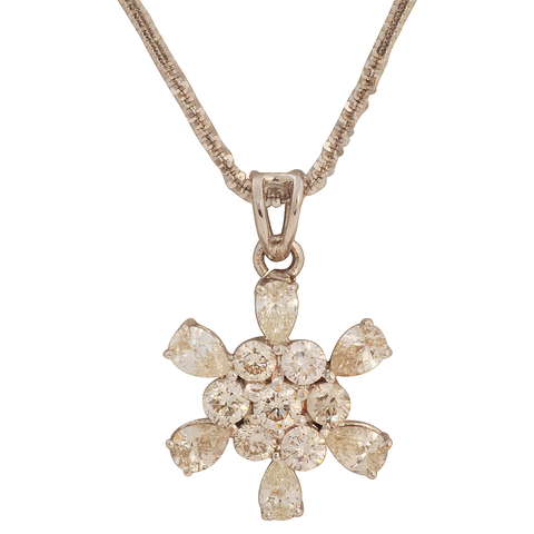 Urjita Diamond Gold Pendant - M Walters Jewellery