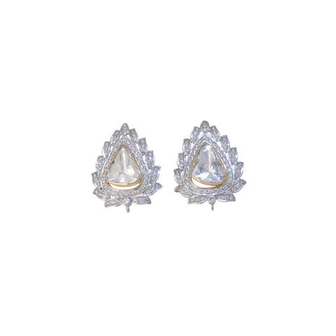 Exotic Diamond Polki Fusion Eartops - M Walters Jewellery